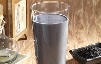 黑芝麻奶茶1杯(中杯)