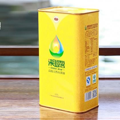 湘露高级天然山茶油马口铁装1.5L
