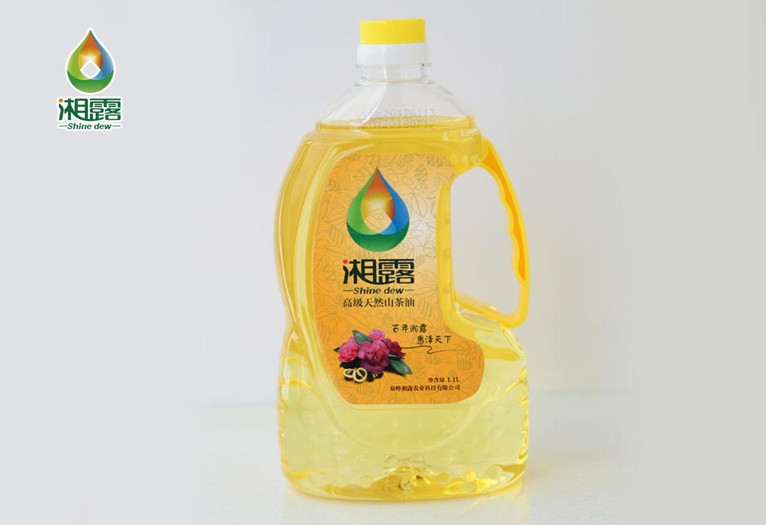 湘露高级天然山茶油家庭装1.1L
