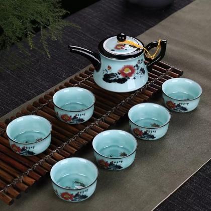 德化青瓷茶具套装