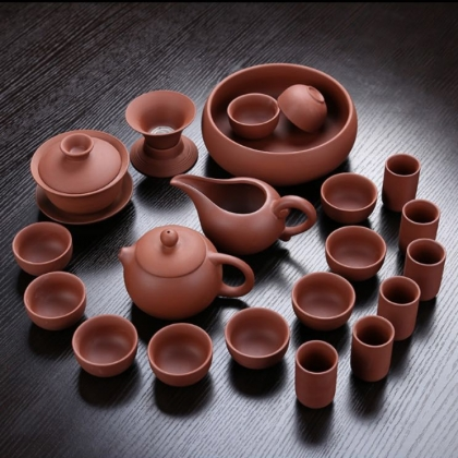 原矿紫砂茶具套装 功夫陶瓷茶具大套组
