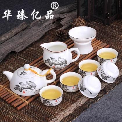 亚光釉茶具套装清韵半球茶壶