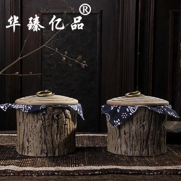 【树头罐】粗陶陶瓷茶叶罐