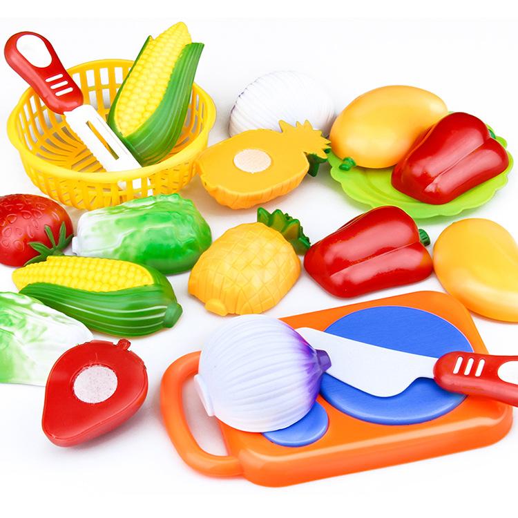 蔬果切切乐玩具切水果切蔬菜女孩过家家厨房玩具套装