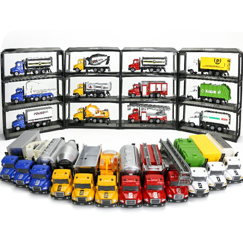 仿真合金车模型儿童玩具小汽车工程车 1:64