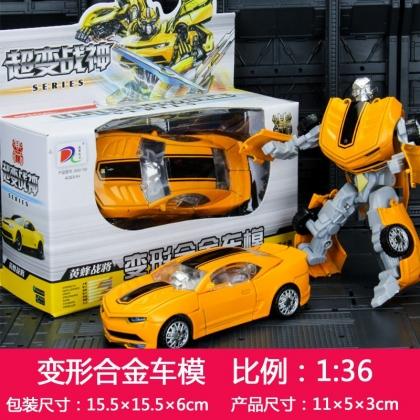合金变形玩具战神金刚小汽车 1:36