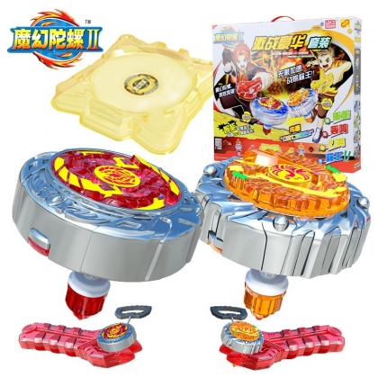 正版灵动魔幻陀螺2代儿童玩具  熖天火龙王VS炽羽火鸟