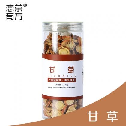 甘草170g 组合花茶 PET罐装易拉铝盖