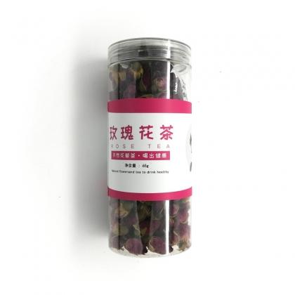 玫瑰花65g 花茶 干花 PET罐装易拉铝盖