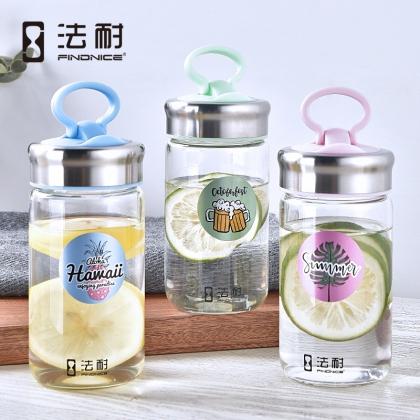 法耐专利手机支架盖玻璃杯耐热便携泡茶可爱学生水杯 FNB-0110907