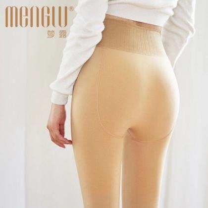 梦露2018秋冬新款打底裤 抗起球锦纶250克加绒加厚高腰保暖一体裤
