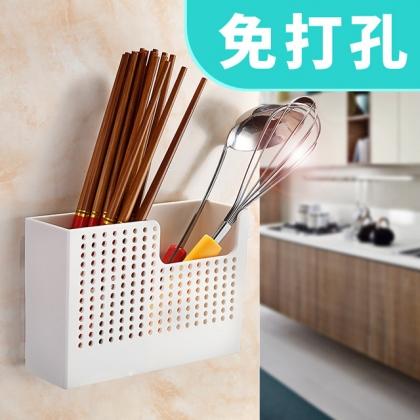 梦妮 壁挂式沥水筷子笼 无痕免打孔安装