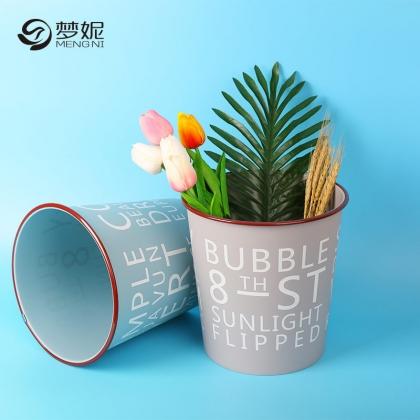 梦妮 家用卧室垃圾桶办公室创意字母收纳桶包邮