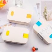 小麦秸秆饭盒日式便当盒配手机架