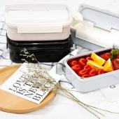 创意注水单层饭盒304不锈钢保温加热饭盒