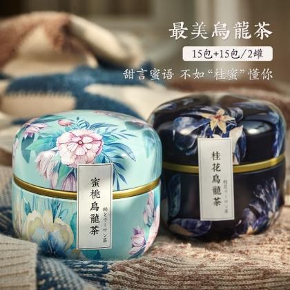 蜜桃乌龙+桂花乌龙 两罐装