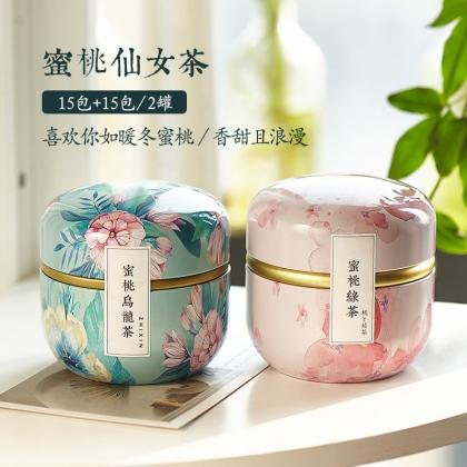 蜜桃乌龙+蜜桃绿茶 两罐装